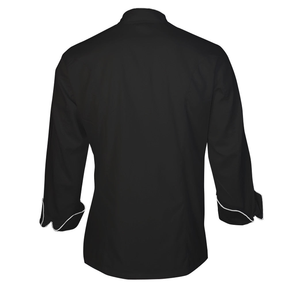 683368a0c8db Black Chef Jacket with White piping- personalized it at no extra ...