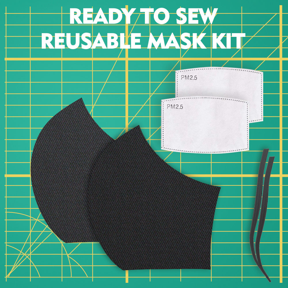 READY TO SEW REUSABLE MASK KIT