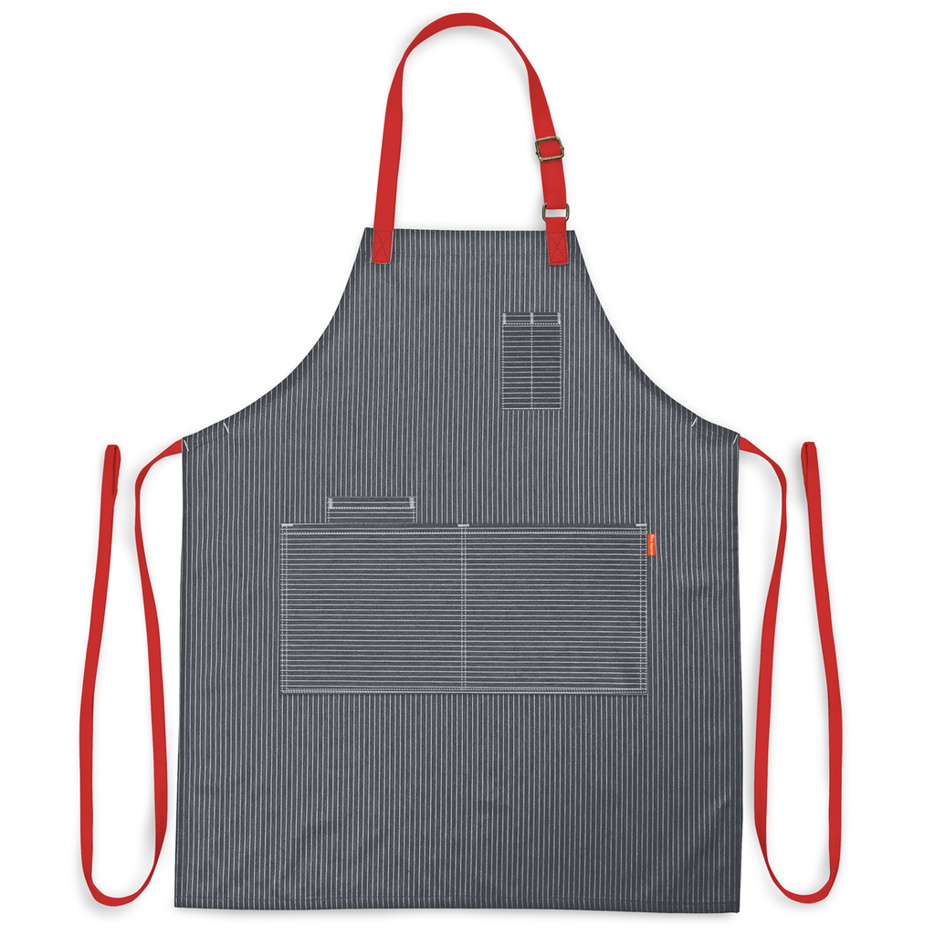 PinStripe Denim Grey Apron (Create Your Own)