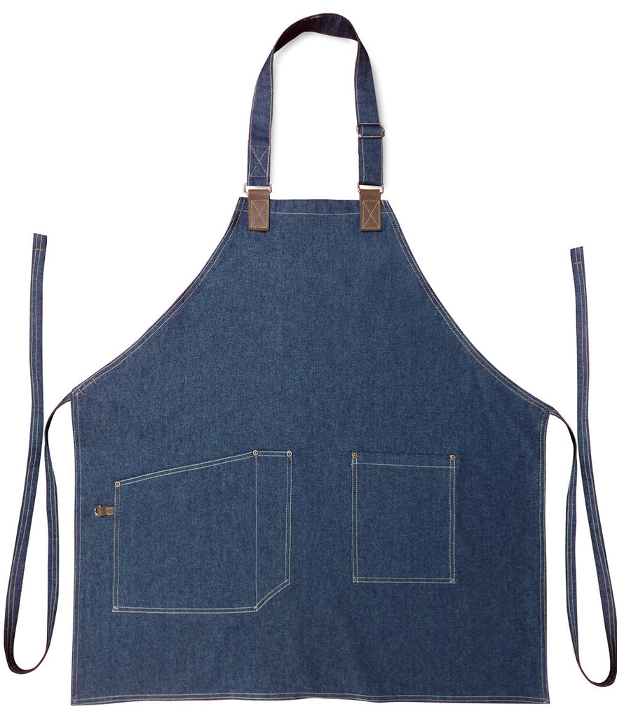 Denim Leather Bib Apron