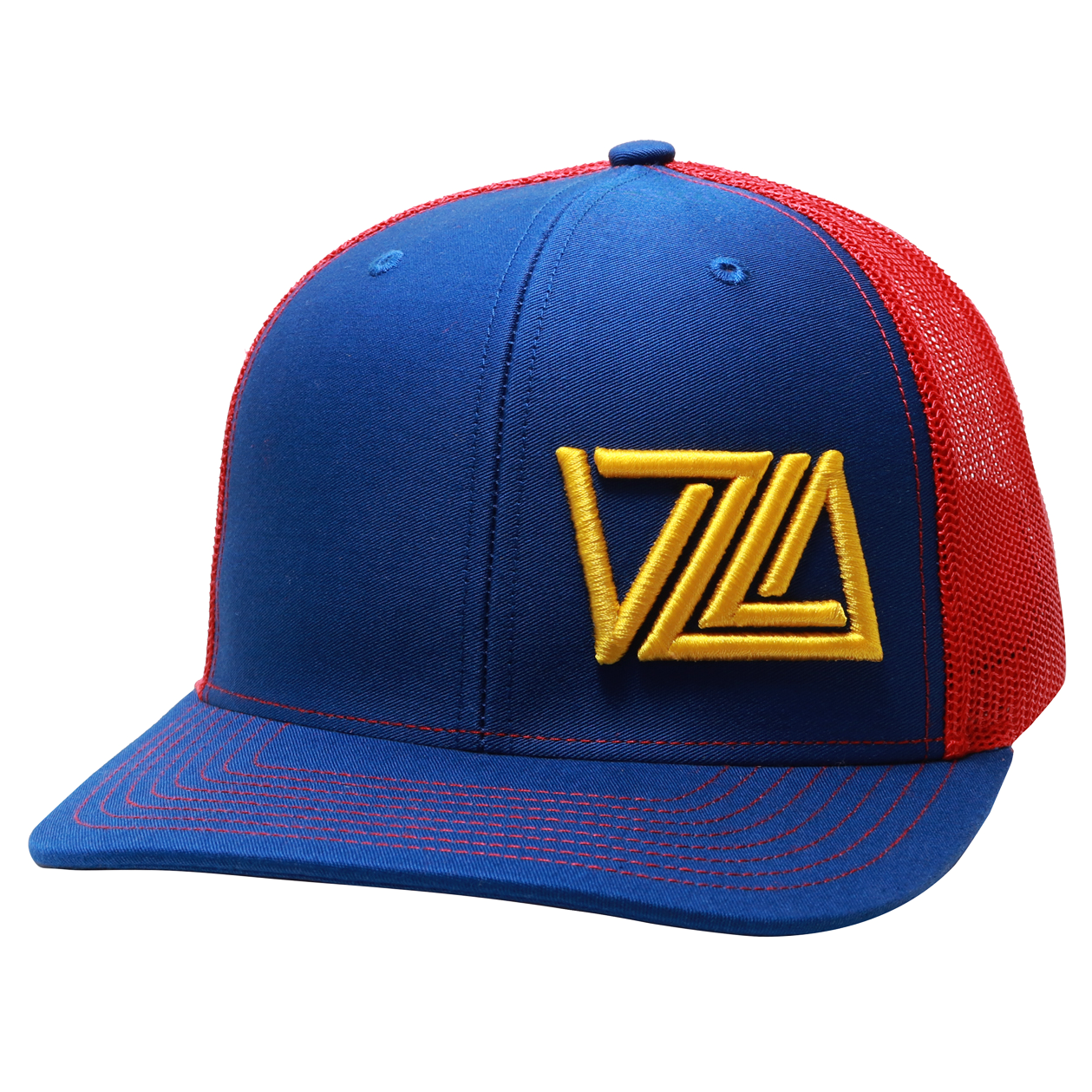 Venezuela Baseball Trucker Cap (Royal/Red)