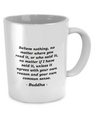 Buddha - Common Sense - Coffee Mug - Unique Gifts Store