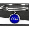Zodiac Sign Aquarius v2 - Bangle Bracelet