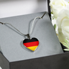 German Flag - Heart Pendant Luxury Necklace