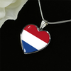 Dutch Flag - Heart Pendant Luxury Necklace