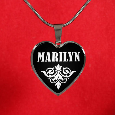Marilyn v02 - Heart Pendant Luxury Necklace