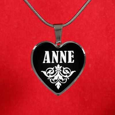 Anne v02 - Heart Pendant Luxury Necklace