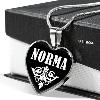Norma v02 - Heart Pendant Luxury Necklace