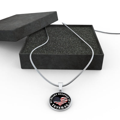 My Heart Belongs To A Veteran - Luxury Necklace