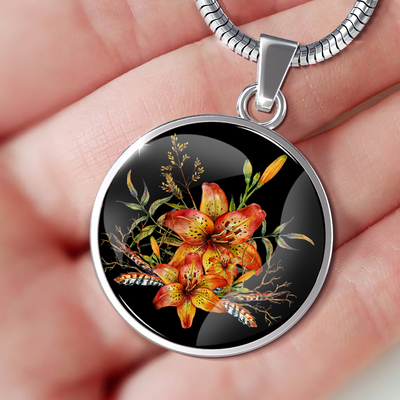 Tiger Lily Bouquet v2 - Luxury Necklace - Unique Gifts Store
