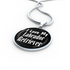 Love My Labrador Retriever v2 - Luxury Necklace