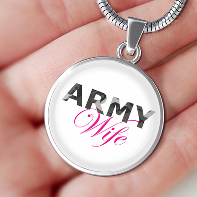 Army Wife - Luxury Necklace - Unique Gifts Store