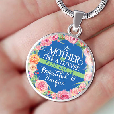 A Mother Is Like A Flower - Luxury Necklace