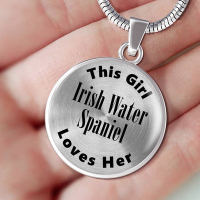 Irish Water Spaniel - Luxury Necklace