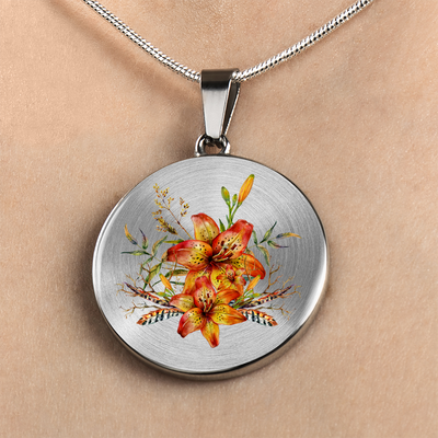 Tiger Lily Bouquet v6 - Luxury Necklace