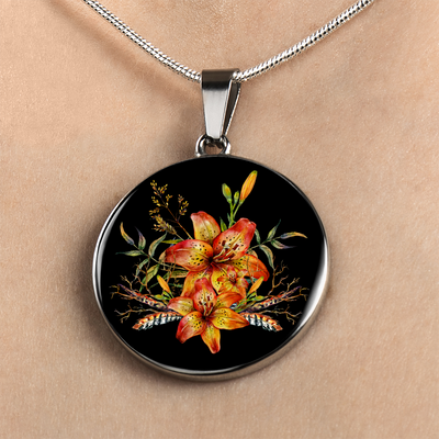 Tiger Lily Bouquet v2 - Luxury Necklace