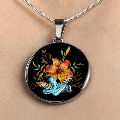 Tiger Lily Bouquet - Luxury Necklace