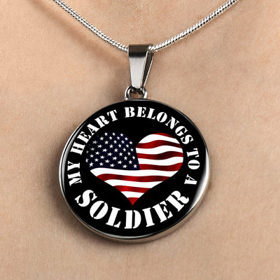 My Heart Belongs To A Soldier - Luxury Necklace
