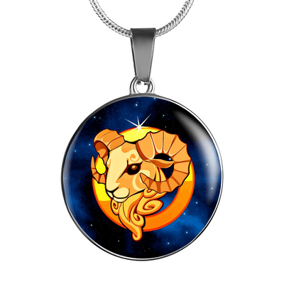 Zodiac Sign Aries - Luxury Necklace