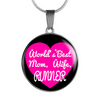 World's Best Mom, Wife, Runner - Luxury Necklace