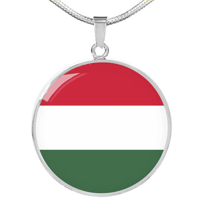 Hungarian Flag - Luxury Necklace