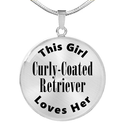 Curly-Coated Retriever - Luxury Necklace
