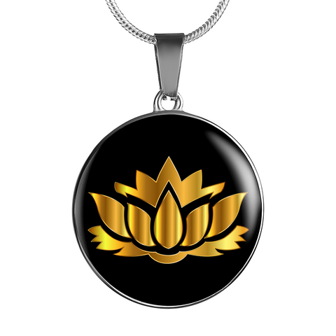 Golden Lotus Flower - Luxury Necklace