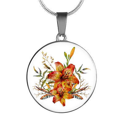 Tiger Lily Bouquet v4 - Luxury Necklace