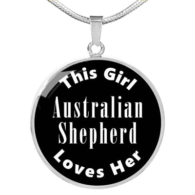 Australian Shepherd v2 - Luxury Necklace