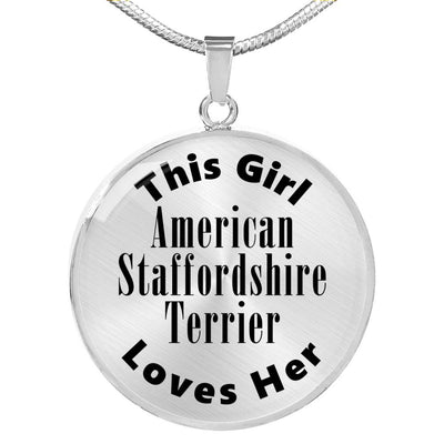 American Staffordshire Terrier - Luxury Necklace