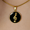 Golden Clef - 18k Gold Finished Luxury Necklace
