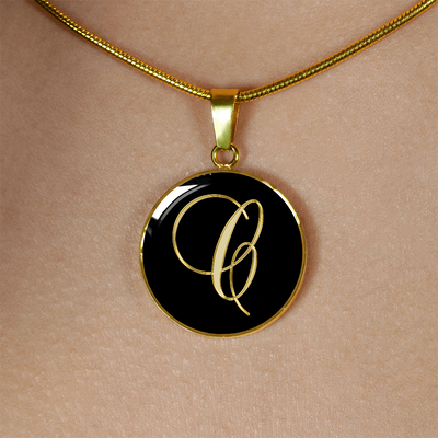 Initial C - 18k Gold Finished Luxury Necklace