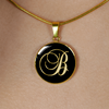 Initial B - 18k Gold Finished Luxury Necklace