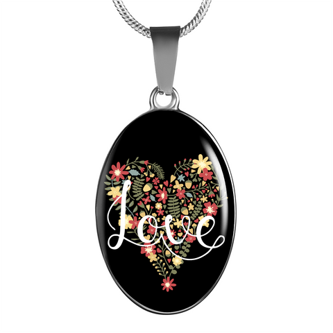 Love - Oval Pendant Luxury Necklace
