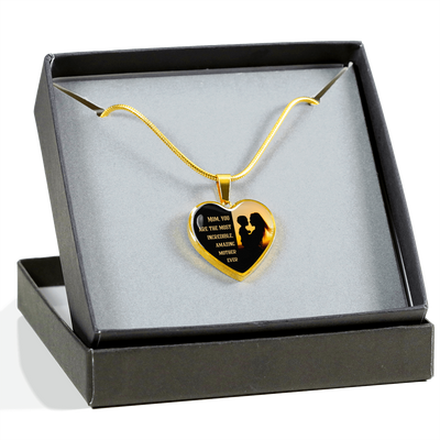 Amazing Mother - 18k Gold Finished Heart Pendant Luxury Necklace