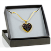 Always Heart To Heart - 18k Gold Finished Heart Pendant Luxury Necklace