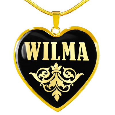 Wilma v02 - 18k Gold Finished Heart Pendant Luxury Necklace