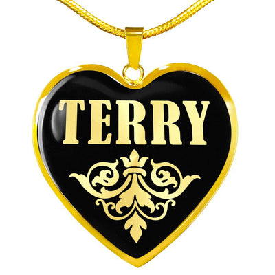 Terry v02 - 18k Gold Finished Heart Pendant Luxury Necklace
