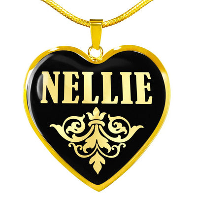 Nellie v02 - 18k Gold Finished Heart Pendant Luxury Necklace