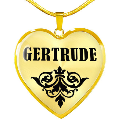 Gertrude v01 - 18k Gold Finished Heart Pendant Luxury Necklace