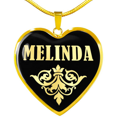 Melinda v02 - 18k Gold Finished Heart Pendant Luxury Necklace