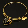 Amazing Mother - 18k Gold Finished Heart Pendant Bangle Bracelet