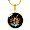 Tiger Lily Bouquet - 18k Gold Finished Luxury Necklace