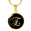 Initial E - 18k Gold Finished Luxury Necklace