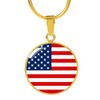 American Flag - 18k Gold Finished Luxury Necklace
