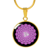 Crown Chakra (Sahasrara) - 18k Gold Finished Luxury Necklace