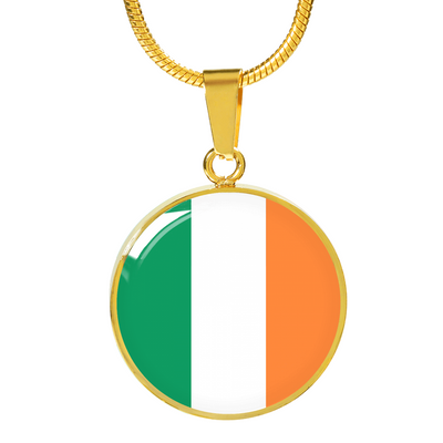 Irish Flag - 18k Gold Finished Luxury Necklace