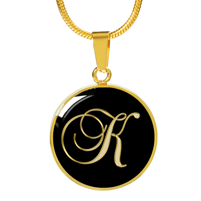 Initial K - 18k Gold Finished Luxury Necklace