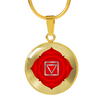 Root Chakra (Muladhara) v2 - 18k Gold Finished Luxury Necklace