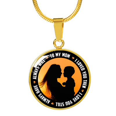 To My Mom v2 - 18k Gold Finished Luxury Necklace
